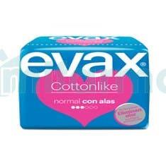Compresas Evax Cottonlike Normal Alas 32 unidades Ahorro