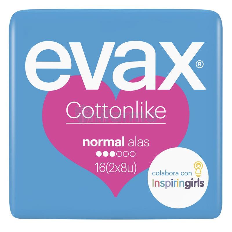 Compresas Evax Cottonlike Normal Alas 16 Compresas