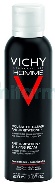 Vichy Homme Espuma Afeitar Piel Sensible 200ml