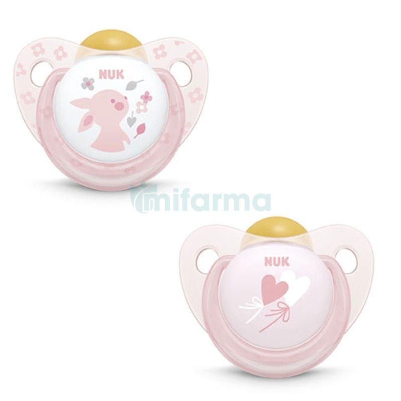 NUK Classic Chupete de Latex Baby Rose Talla 1 Color ROSA 2ud
