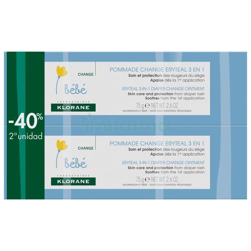 Klorane Bebe Eryteal Crema 75 ml DUPLO
