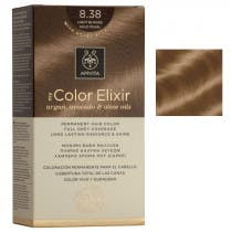 Tinte My Color Elixir Apivita N8 38 Rubio Claro Dorado Perlado
