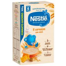 Papilla Nestle 8 Cereales con Miel Etapa 2 900 gr 6m