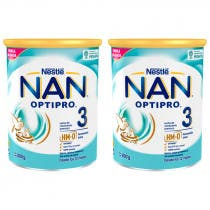Pack Duplo Nestle Nan Optipro 3 Leche Crecimiento 800g + 800g