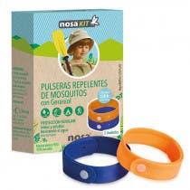 Pulsera Repelente Mosquitos Color Azul y Naranja Nosa 2Uds