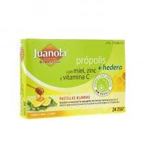 Juanola Propolis Hiedra Miel Zinc Vit C Sabor Miel Limon 24 Pastillas Blandas