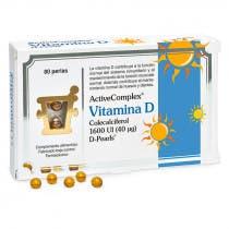ActiveComplex Vitamina D Colecalciferol 1600UI 80 Perlas Pharma Nord