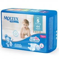 Panales Moltex Premium Comfort Talla 5 13-18Kg 44Uds