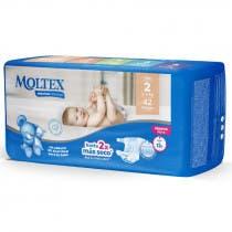 Panales Moltex Premium Comfort Talla 2 3 6kg 42Uds