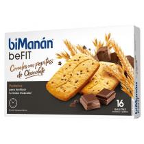 Bimanan Pro Galletas de Cereales con pepitas de chocolate 16unidades