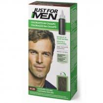 Just For Men Champu para Hombre Tinte para Hombre Colorante en Champu Castano Oscuro