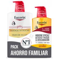 Eucerin Pack Oleogel De Ducha Piel Seca 1000 ml    400 ml de recarga