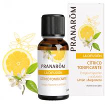 Difusion Limon y Bergamota Citrico Tonificante Bio Pranarom 30ml
