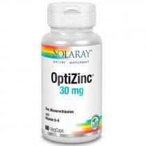 Optizinc  Zinc y Vitamina B6  Solaray 60 Capsulas