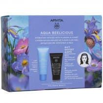 Apivita Neceser Crema Aqua Beelicious Ligera 40ml REGALO Minitalla Limpiador Negro