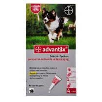 Advantix 10 A 25 Kilos 4 Pipetas De 2.5 ml Para Perro