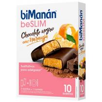 Bimanan Barritas Chocolate naranja 8unidades