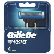 Recambios Gillette Mach3 Turbo 4uds