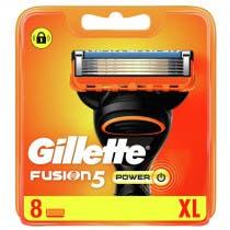 Recambios Fusion5 Power Gillette 8Uds