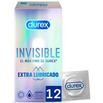Durex Invisible Preservativo Extrafino Extralubricado 12 Unidades