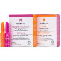 Sesderma 2 Ampollas Acglicolic Classic Forte 2ml  C Vit Intensive Serum 2ml