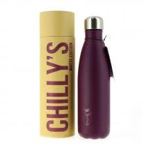 Botella Inoxidable Chilly's Purpura Mate 500ml