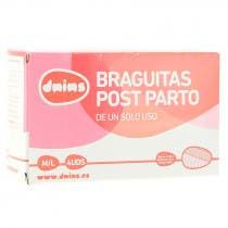 Braguitas Malla Deshechables Post-Parto Talla M/L Dnins 4Uds