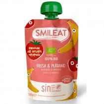 Pouch Fresa y Platano Ecologico Smileat 100g