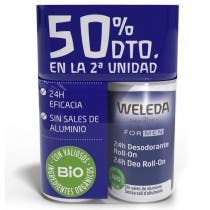Pack Duplo  Desodorante Roll On Men Weleda 50ml
