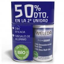 Pack Duplo Desodorante Roll On Men Weleda 50ml