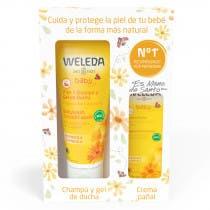 Weleda Pack Verano Bebé Champú y Gel de Ducha 200 + Crema Pañal 75ml