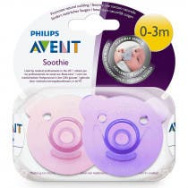 Avent Chupetes Soothie 0-3m Rosa 2 Unidades