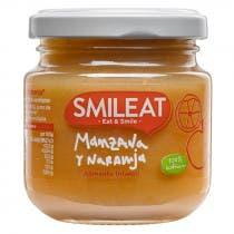 Smileat Tarrito de Manzana y Naranja 100  Ecologico 130g