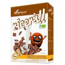 Almohadillas Arroz Integral con Crema de Cacao Soria Natural 375g